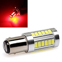 LED P21/5W / BAY15d Лампа в автомобиль, 33SMD, Красная