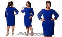 Платье с шифоновыми рукавами 50-56