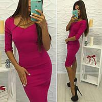 Платье с эффектом утяжки в расцветках 21374
