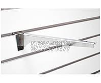Полкодержатель хромированый в эконом панель 35 см.
