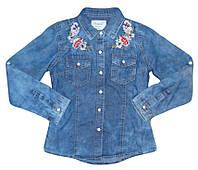 Рубашки джинсовые для девочек оптом Seagull 134-164 см. № CSQ-89880