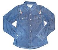 Рубашки джинсовые для девочек оптом Seagull 134-164 см. № CSQ-89881