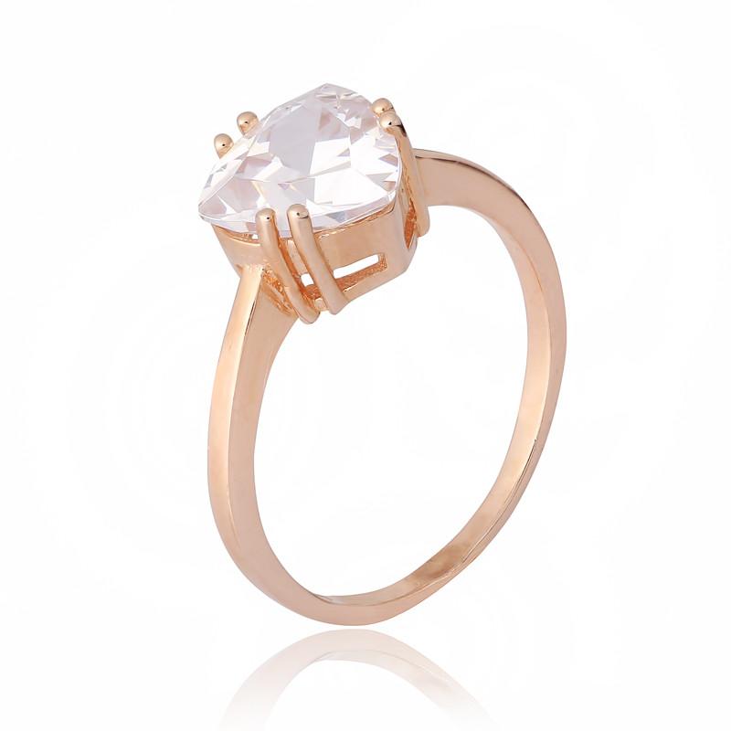 """Серебряное кольцо с камнями и позолотой """"399"""""""