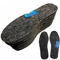 Стельки для обуви ФЕТР LIDER (4mm), фетровые зимние стельки 44