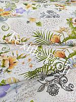 """Льняная ткань для постельного белья """"Exotique"""" (шир.185 см), фото 1"""