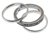 """Кольцо """"Игра"""" с кристаллами Swarovski, покрытое серебром (a6873000)"""