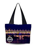 Текстильная сумка XYZ Города С0107 Вечернее Запорожье