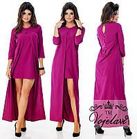 Платье мини/макси, 2 в 1. 5 цветов. Р-ры: 42, 44, 46.