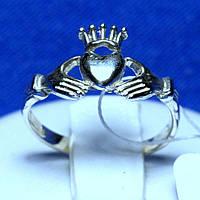 Кладдахское серебряное кольцо без вставок кс 1310