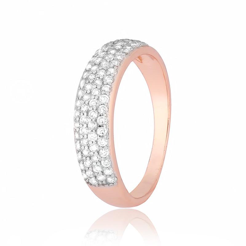 """Серебряное кольцо с камнями и позолотой """"468"""""""