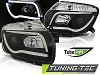 Передние фары Dacia Duster 2010-2014 с габаритами LED