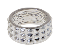 "Кольцо ""Кверча"" покрытое серебром (m475b09)"