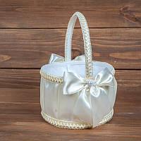 Свадебная корзинка для лепестков в бежевом цвете (арт. BP-102)
