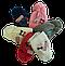 Шапка+шарф для девочек Камни м 7041,3-12 лет, флис, фото 5