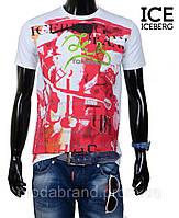 Стильная мужская футболка ICEberg-1219 белая