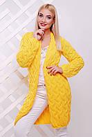 Яркий желтый вязанный кардиган