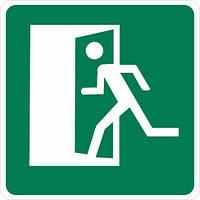 """Наклейка """"Эвакуация. Выход налево"""""""