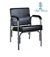 Кресло парикмахерское для мойки головы стул с наклоном кожа черный