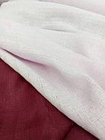 """Льняная декоративная ткань """"Невесомый розовый"""", с крэш эффектом (шир. 190 см)"""