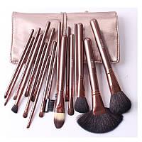 Набор кистей для макияжа MEGAGA 18 шт золото, фото 1