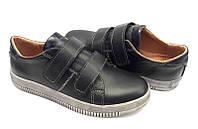 Туфли для мальчиков кожаные на липучке 0025ЕДЖ