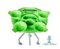 Тележка подставка парикмахерская для кисточек и мисок салат YRE