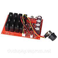 Контроллер регулятор скорости вращения двигателя постоянного тока 10V-50V 60A 15 кГц, фото 1