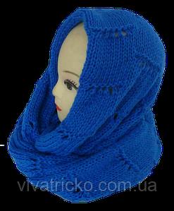 Шарф хомут вязаний женский м 7057, разные цвета