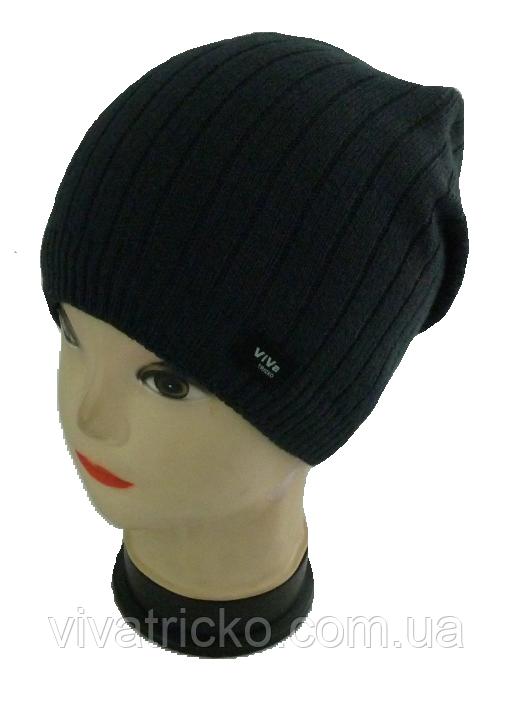 Чоловіча шапка зимова, фліс м 7074, різні кольори