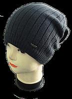 Мужская шапка зимняя, флис м 7075, разные цвета