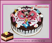 Торт Минни маус с шоколадными подтеками