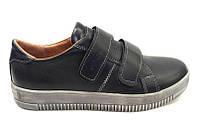 Туфли для подростков мальчиков кожаные на липучке eD0025