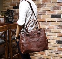 Мужская кожаная сумка. Модель 61216, фото 4