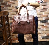 Мужская кожаная сумка. Модель 61216, фото 3