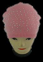 Шапка вязанная для девочек м 7005, разные цвета