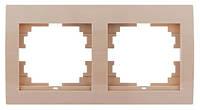 Рамка 2-я горизонтальная крем Lezard Deriy 702-0303-147