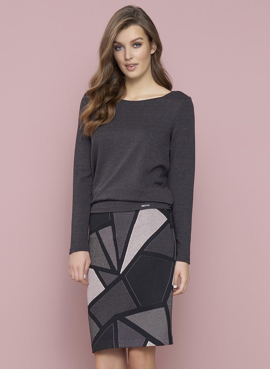 Женская юбка Polis Zaps серо/сливового цвета 015, размер S