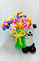 Шикарный букет с пандой из воздушных шаров