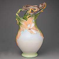 """Фарфоровая ваза кувшин """"Цветок Дракона"""" (30 см) Veronese Италия 20007AA"""