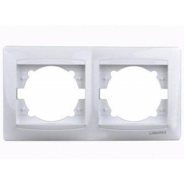 Рамка двойная Сакура Белый LMR1011