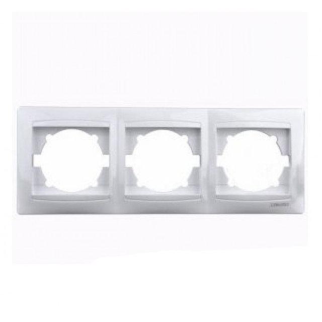 Рамка тройная Сакура Белый LMR1012