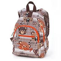 Рюкзак детский городской три отделения Dolly коричневый (348)