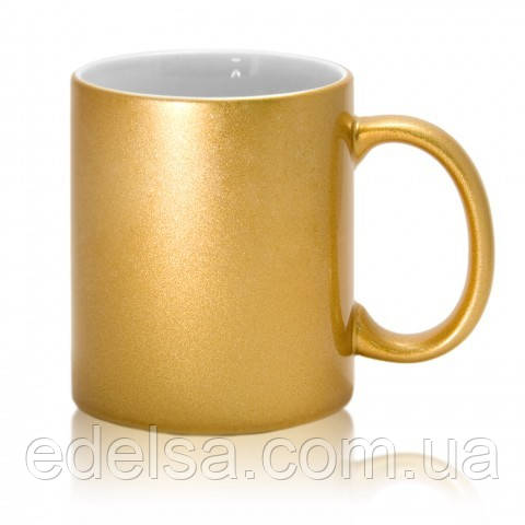 Кружка золотая с фото или логотипом