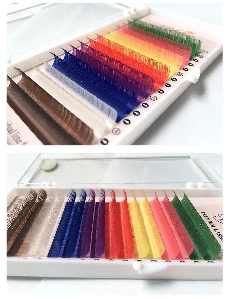 """Цветные ресницы """"Yelix"""", 16 линий"""