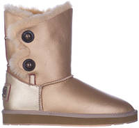 UGG Bailey Button Gold Leather