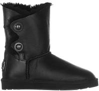 UGG Bailey Button Black Leather