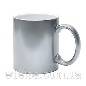 Кружка срібна з фото або логотипом