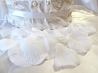 Лепестки роз искусственные Белые (арт. RP-1)