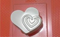 Пластиковая форма для мыла  Ритм сердца
