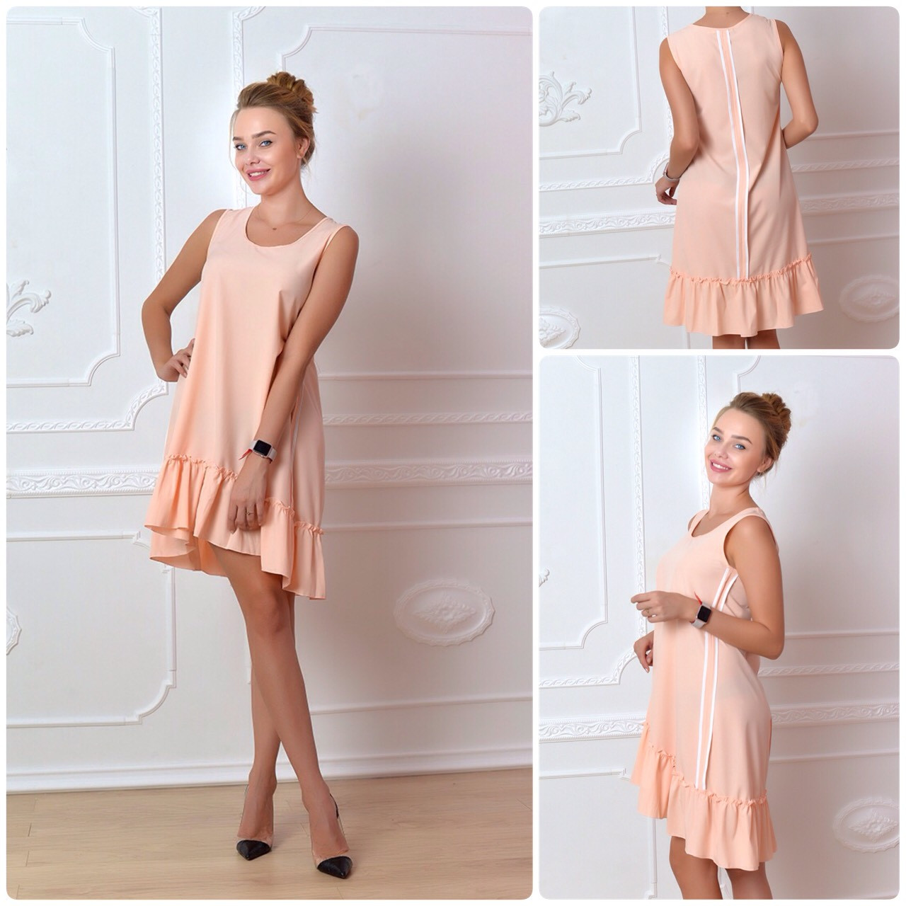 Платье 790 спорт персик